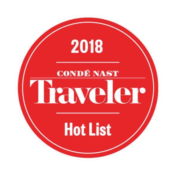 Traveler Hot List 2018 Award